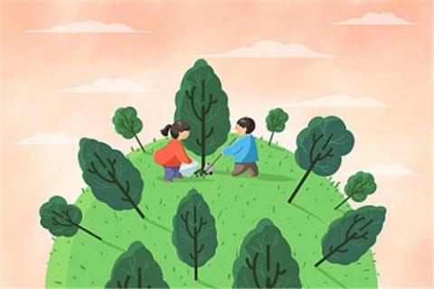 关于植树节的宣传文案,适合植树节发的朋友圈说说